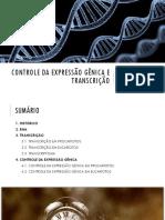 Controle da expressão gênica e transcrição