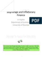 Seignorage and Inflationary Finance