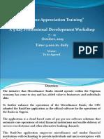 Training Proposal - BankOne Appreciation Training