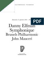 Danny Elfman / Symphonique