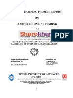 summer training report at sharekhan ltd.