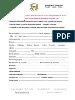 Formulaire de demande de visa Business Togo