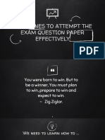 GUIDELINES TO ATTEMPT THE EXAM QUESTION PAPER EFFECTIVELY