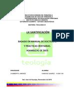INFORME TEOLOGIA- LA SANTIFICACION