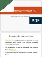 Civil Engineering Coaching at TCCI