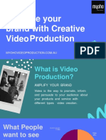 Promote Your Brand with Creative Video Production