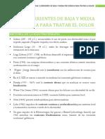 TEMA 2 CORRIENTES DE BAJA Y MEDIA FRECUENCIA PARA TRATAR EL DOLOR