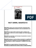 Riot Girl Manifesto Eng Ger