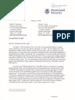 DHS Letter Trusted Traveler Programs