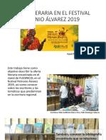 Oferta literaria en el festival PETRONIO ÁLVAREZ 2019