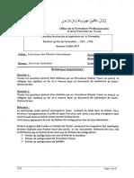 Examen de Fin de Formation Pratique Juin 2017 variante v1-2