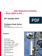 Digital Mobile Network Evolution - from GSM to 5G