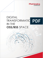 Digital Transformation in The OSS-BSS Space