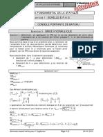 Corrigé TD 22 - Comportement Statique Des Systèmes