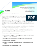 Employee Conduct and Work Rules Sv