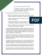 DISCUSION DE LOS COMPONENTES DEL SISTEMA