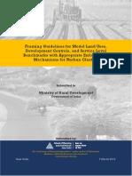 Model Planning Guidelines for Rurban Cluster