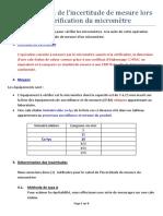 Estimation d_une incertitude_Micromètre