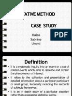 Case Study (Ieja Sab Ummi)
