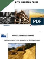 Cadenas Komatsu PC200