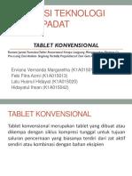 1. tablet konvensional