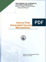 Informe Final N°125 UTEM Contraloría 17 Nov 2010