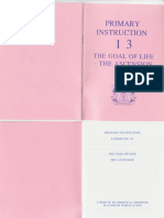 Primary Instruction 13  The Goal of Life