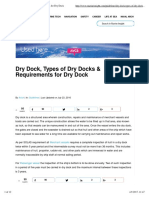 Requirements for Dry Dock