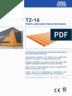 Perfil TZ-16 Fachada