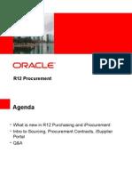 Procurement Changes in R12