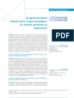 Anestesia y analgesia peridural torácica para cirugía oncológica