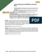Proposta de normalização para Madeira Laminada Colada (MLC)
