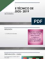 INFORME TÉCNICO DE RESULTADOS- 2019