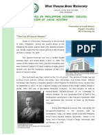 Essay about Promotion of Local History.docx