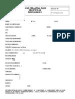 Ficha Cadastral para funcionários