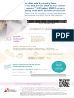 Keep your data safe by moving from unsupported SQL Server 2008 to SQL Server 2019 on Lenovo ThinkSystem SR630 servers, powered by Intel Xeon Scalable processors - Infographic