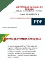 RENTAS DE PRIMERA CATEGORIA