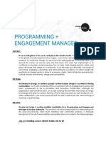 ObD Programming and Engagement Manager 2020