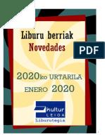 2020ko urtarrileko liburu berriak -- Novedades de enero del 2020