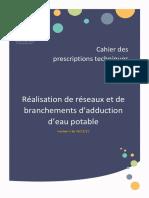 Cahier Prescriptions Tech Reseaux AEP SAGe