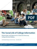 The Social Life of College Information