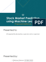 Stock Market Prediction using Machine Learning Proposal