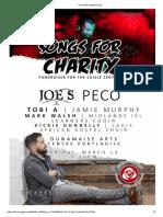 Dunamaise Gig Flyer 'Songs for Charity' Fundraiser