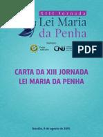 Carta XIII Jornada Lei Maria da Penha