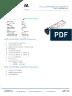 Intel E10GSFPLR Datasheet