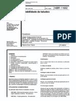 NBR 11682 NB 1315 - Estabilidade de taludes