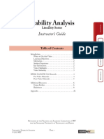Stability Analysis Instructor Guide w appendix