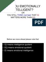Emotional Intelligence 020109