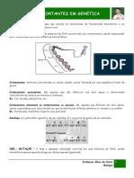 CONCEITOS IMPORTANTES DE GENÉTICA 2019