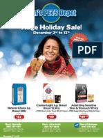 Ren's Pets Depot December Flyer_Oakville&Aberfoyle
